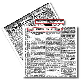 Gann's Incredible Record Newspaper